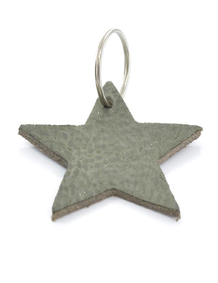 1747a-sleutelhanger-olijfgroen-ster.1