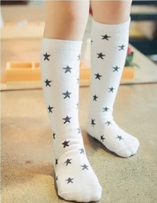 sokken wit met ster.1