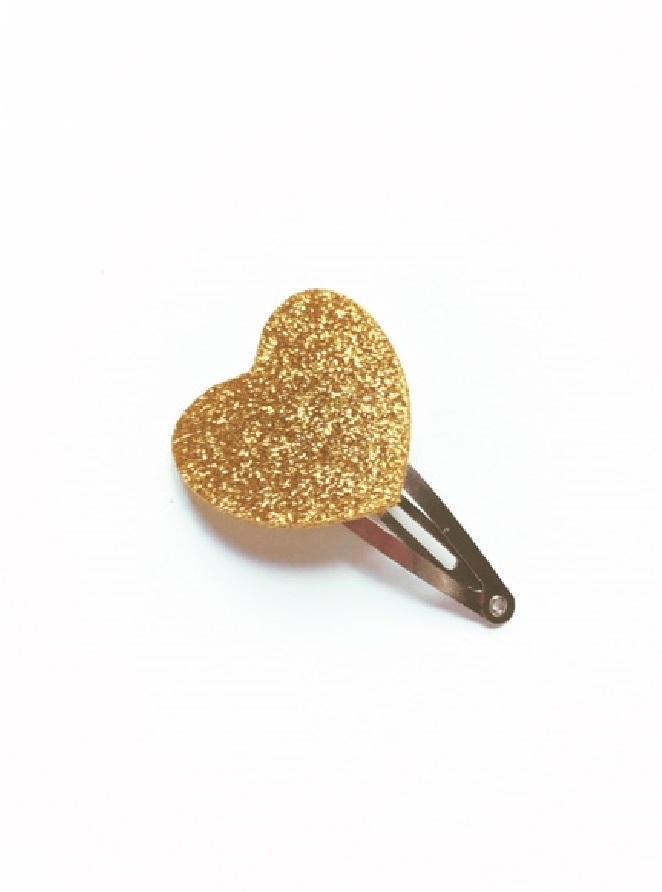 haarspeldje gouden hartje.1