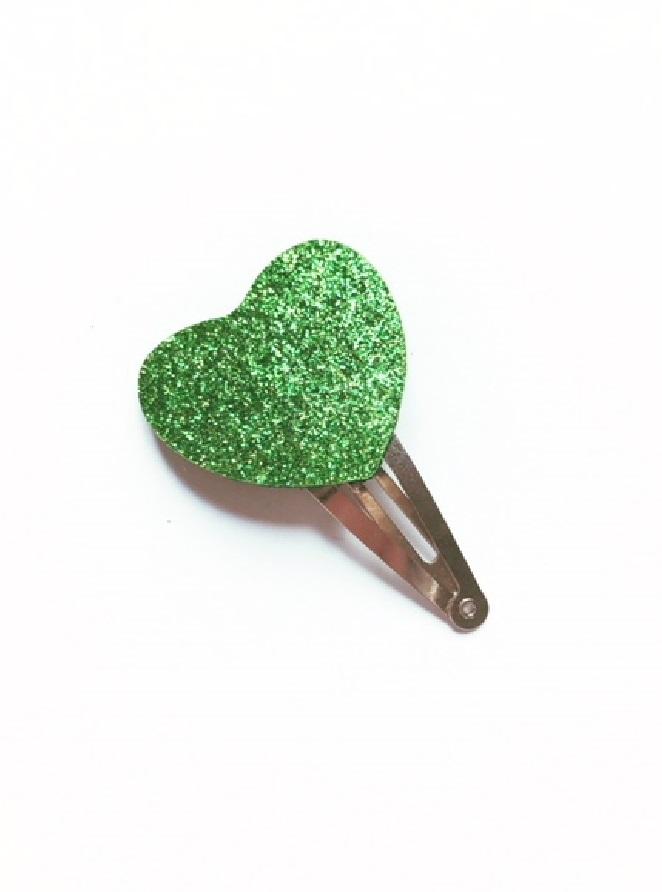 haarspeldje groen hartje.1