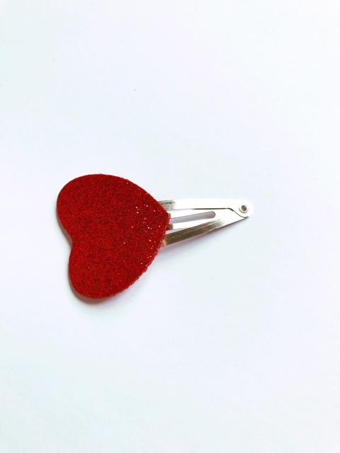 haarspeldje rood hartje