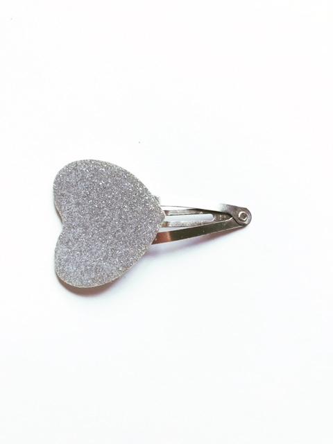 haarspeldje zilver hartje