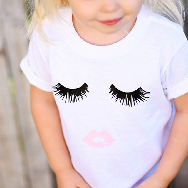 shirt lashes girl
