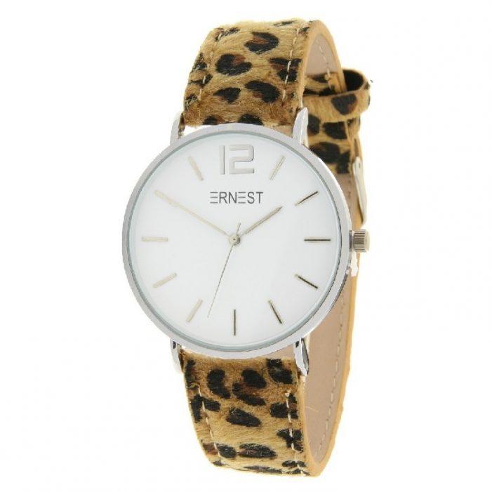 horloge zilver leopard camel.3