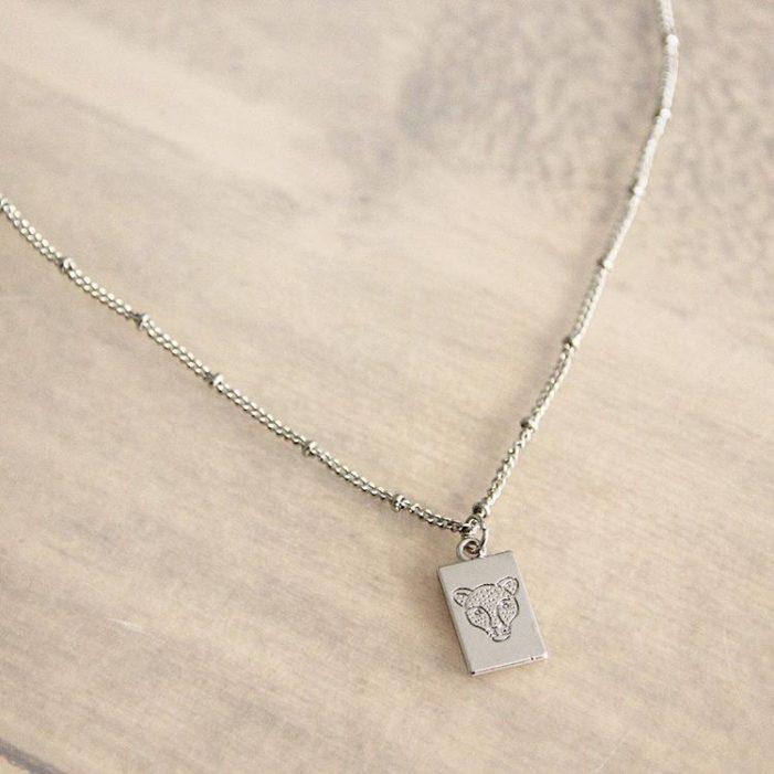 ketting zilver luipaard.2