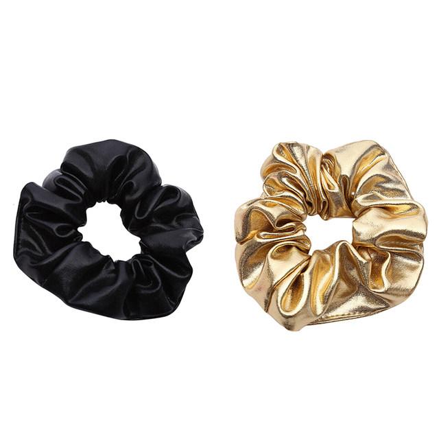 scrunchies zwart goud