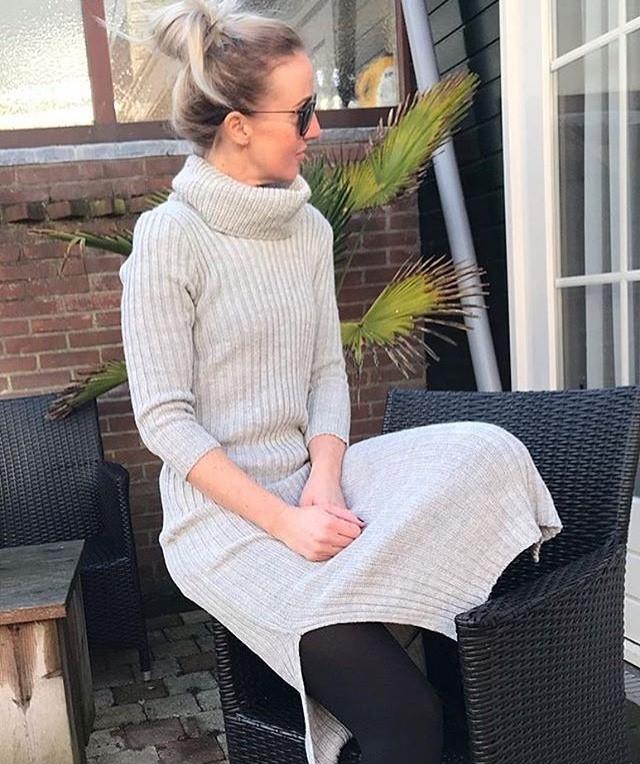 coltrui jurk grijs