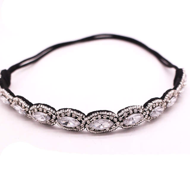 haarband strass silver