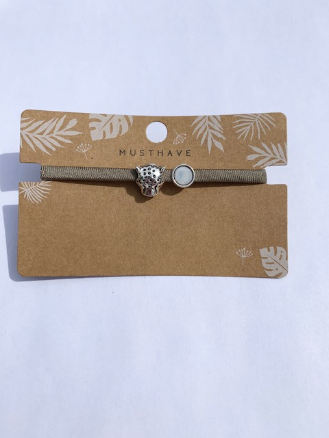 Leopard Taupe armband.1