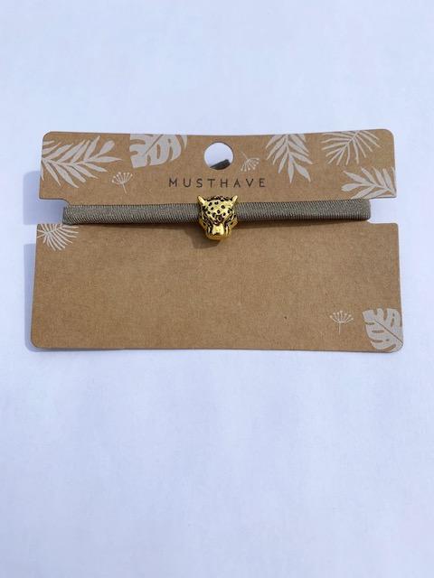 Leopard armband gold
