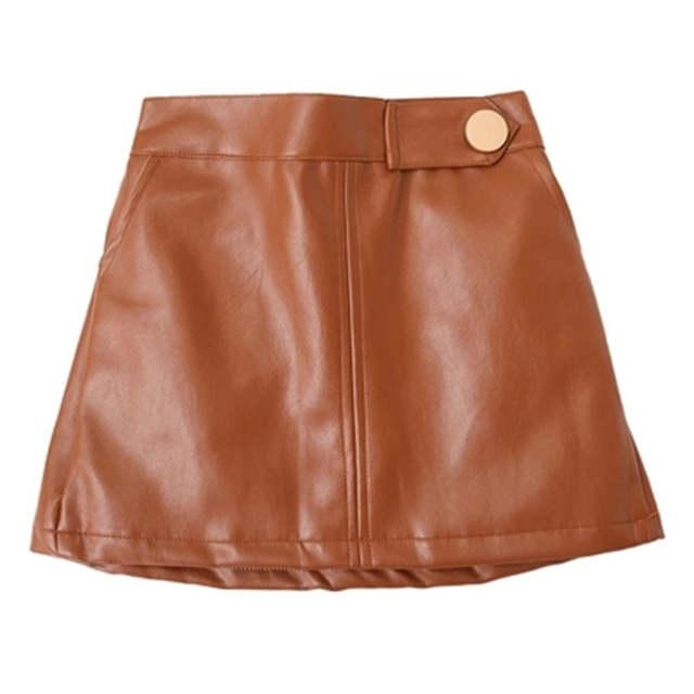 leatherlook skirt girls